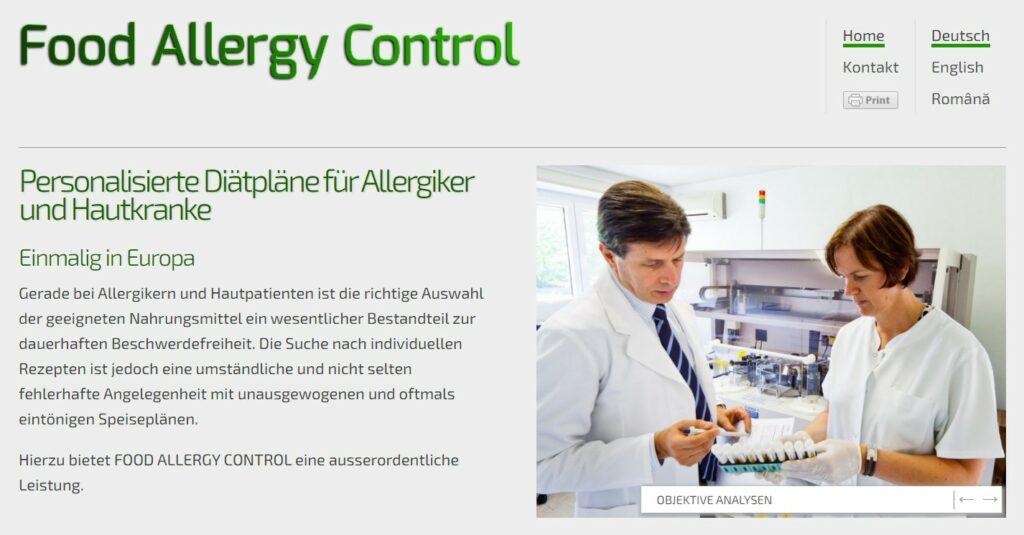 Partner der Spezialklinik Neukirchen Food Allergy Control